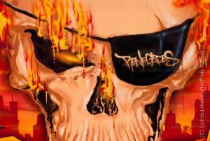 Graffiti an EZB