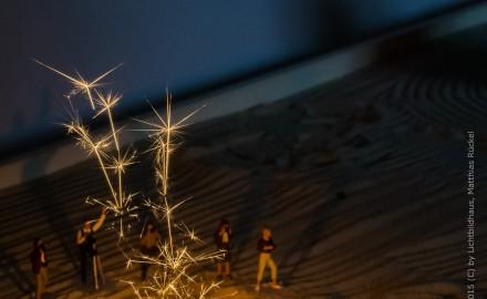 Feuerwerk im Zengarten