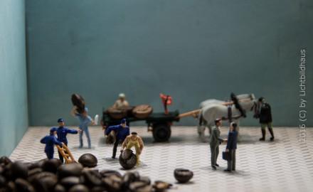 Abladen des Kaffees