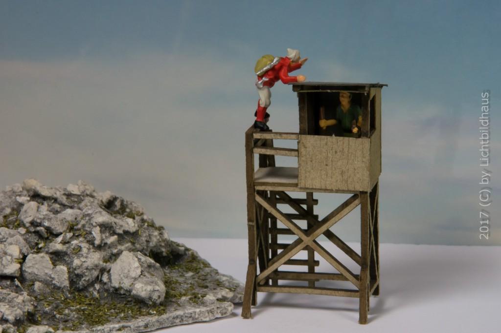 Redewendung: Jemanden auf das Dach steigen