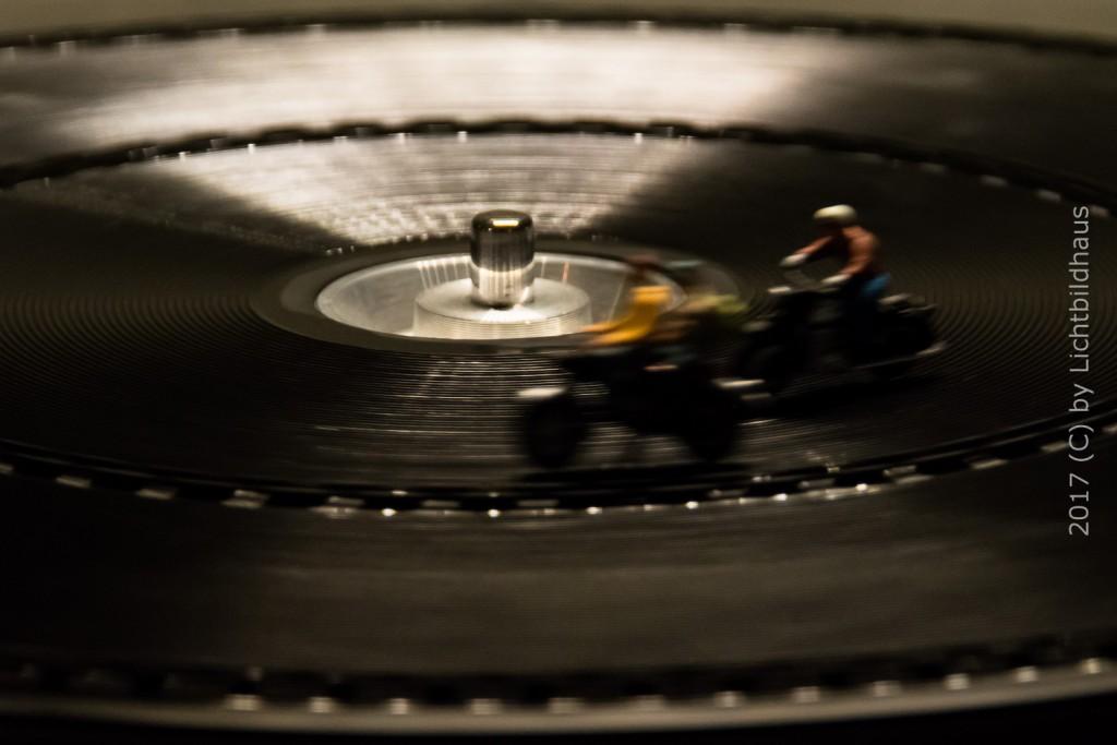 Rennen auf dem Plattenteller