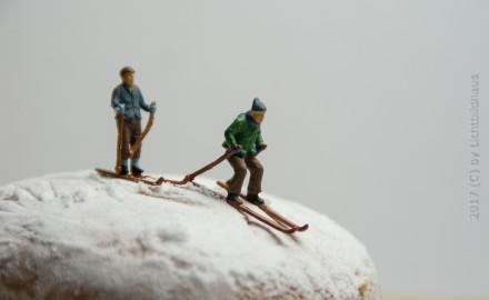Berliner beim Skifahren